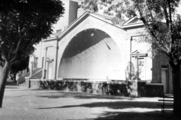 This band shell was located in Armory Park.