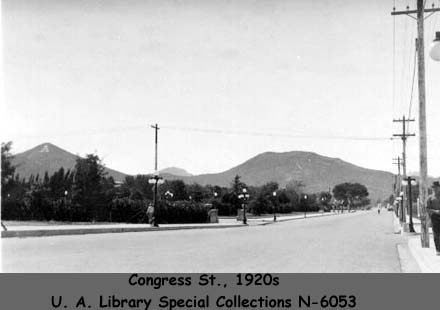 Three views of Congress St. in the 1920s and 1930s.
