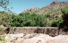 The dam in lower Sabino Canyon