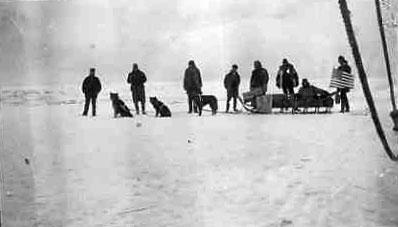Tom photographed this dogsled by the ship