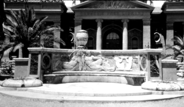This elegant marble bench, the Freeman Memorial, was added some years later.