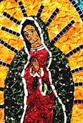 Fused glass image of the Virgin of Guadalupe (JSG)