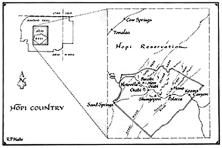 Map -- Hopi Country