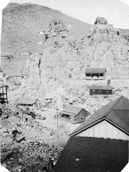 A mining camp (unknown location); Tom had relocated to a gold mine near Mammoth, Arizona, in 1899.