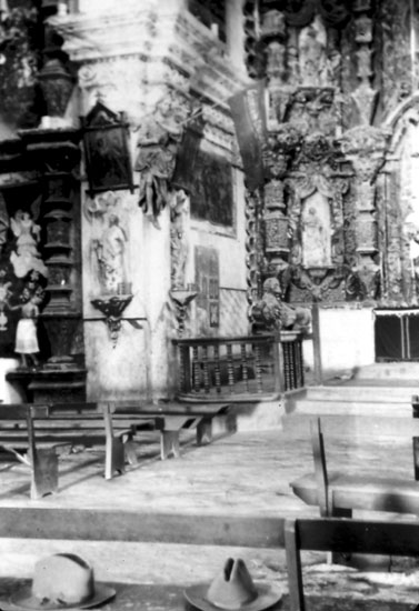 Interior views of the Chapel, c. 1903. The banners indicate the photos were taken at Christmas time.