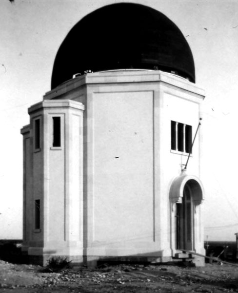 In 1916 Mrs. Lavinia Steward donated money to the University for the construction of an observatory for the Astronomy Department. This picture shows the building during construction. Built on the far eastern edge of the campus, students and faculty began making observations of the stars after completion in 1923.