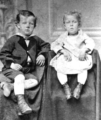 Tom and his sister Alice in Fort Scott, Kansas, c. 1876