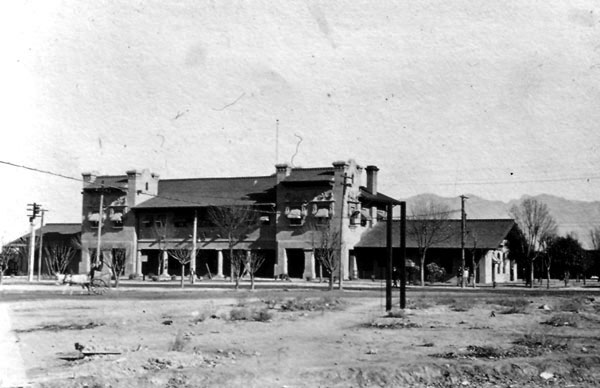 The El Paso and Southwestern Passenger Depot, on Toole Avenue, was constructed in 1908. Most travelers to Tucson arrived at this building before being shuttled off to one of the downtown hotels. Tom and Louise acquired land across from this depot on which they planned to construct a tourist hotel in 1929. The hotel was never built.