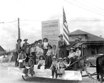 LIttle Cow puncher ride in the 1939 Rodeo Parade, Tucson, AZ